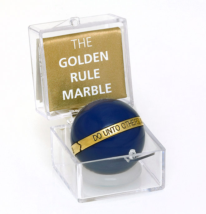 The Golden Rule Marble - Corporate Promotional Gift Idea