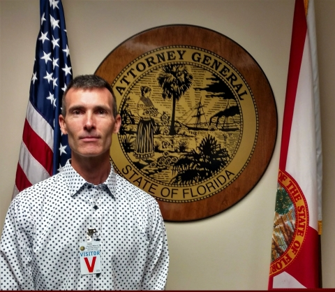 David Howe at the Office of the Attorney General in Tampa, Florida