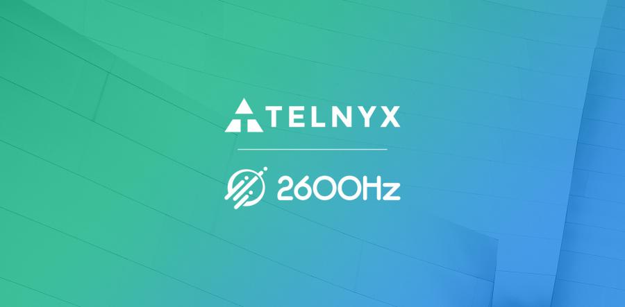 Telnyx and 2600Hz logos