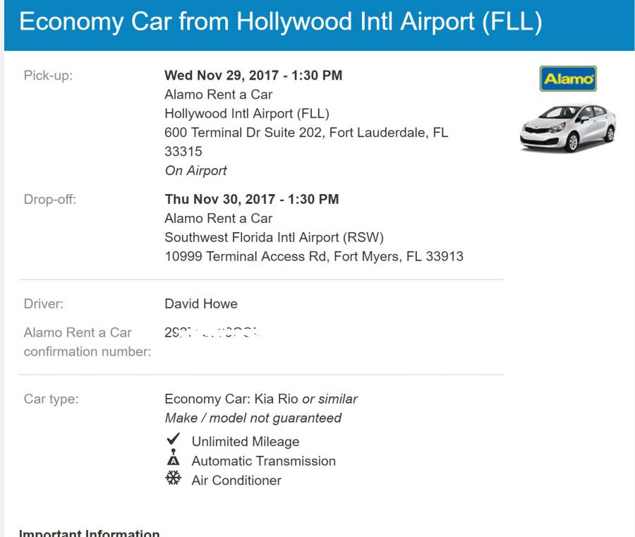 Alamo car rental modify reservation 14