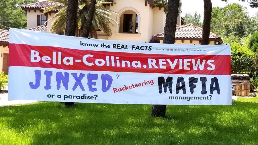 Residents fight Bella Collina & Randall Greene mafia tactics