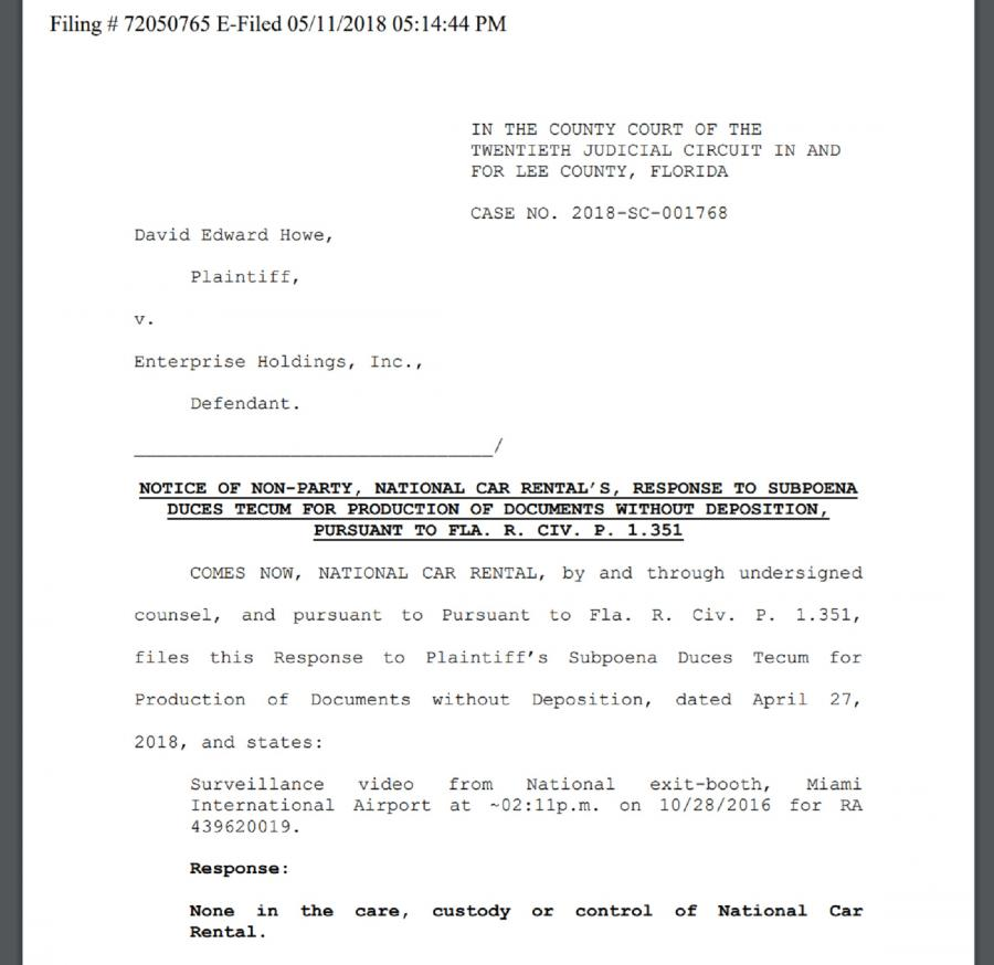 CODE COVER-UP: Enterprise Holdings' National Car Rental counsel says evidence is GONE!