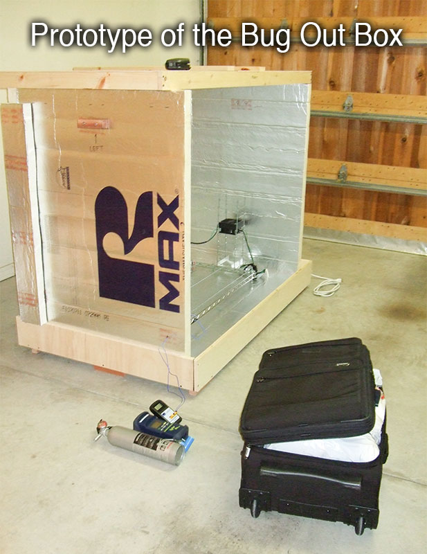 Bug Out Box - Prototype for killing bed bugs