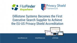 Dillistone Systems is the first dedicated Executive Search supplier to  become registered under the US-EU privacy shield