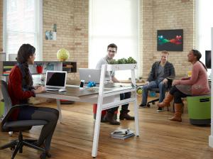 Open office - collaborating employees