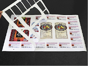 Die cut sheet labels with matrix removed