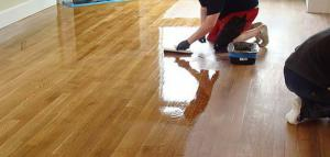 Wood floors can be brought back to life with a buff and coat job