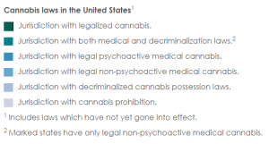 Cannabis laws in the United States Legend