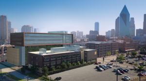 The rooftop terrace with seating and catering areas will offer direct views of downtown Dallas.