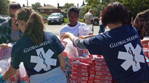 GlobalMedic delivering aid in the Caribbean