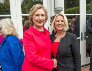 Renee White Fraser PhD - With Hillary Clinton