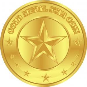 Gold Medal Star Blockchain Token