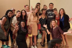 Photo of people on a stage, 2017 Creative Startups Winston Salem cohort