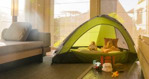 tent in the room