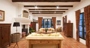 Livining room in luxurious country mansion in Andalusia Spain