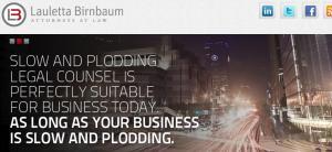 Website of Lauletta Birnbaum, Frank Lauletta, Partner