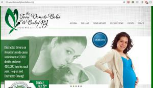 Website of The Toni Donato-Bolisand Baby RJ Foundation, which benefited from the Lauletta Birnbaum Tournament