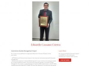 Professional Profile of Automotive Quality Expert Eduardo Cassano Correa