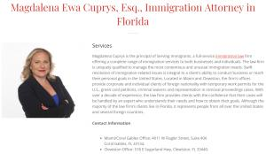 Attorney profile of Magdalena Cuprys at www.solomonlawguild.com