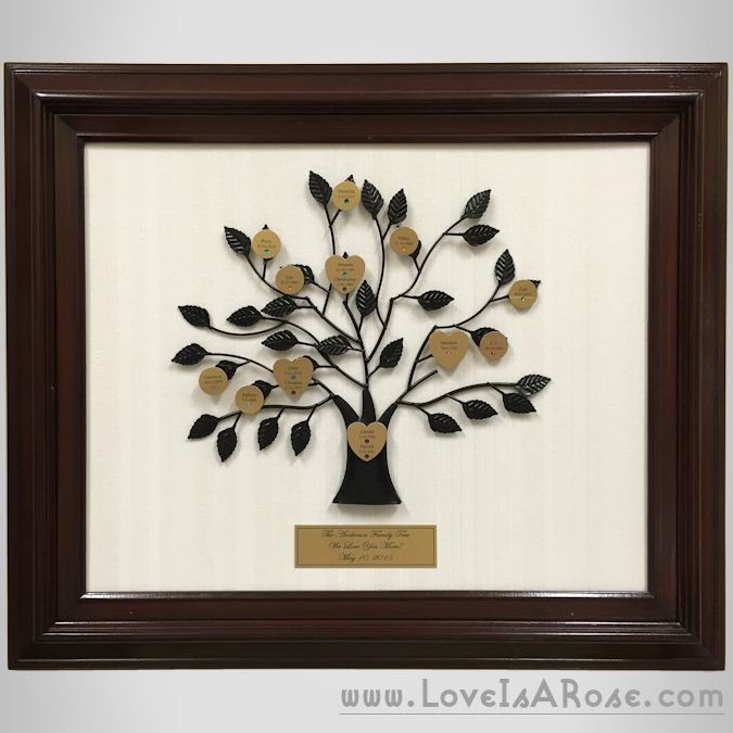 New personalized family tree gifts complete with for Family tree gifts personalized