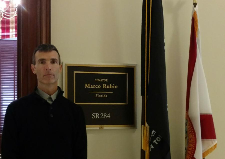 America's child protector and SubscriberWise founder David E. Howe at the Office of United States Senator Marco Rubio, Washington, D.C.