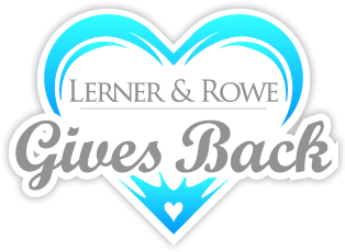 Lerner & Rowe Gives Back logo