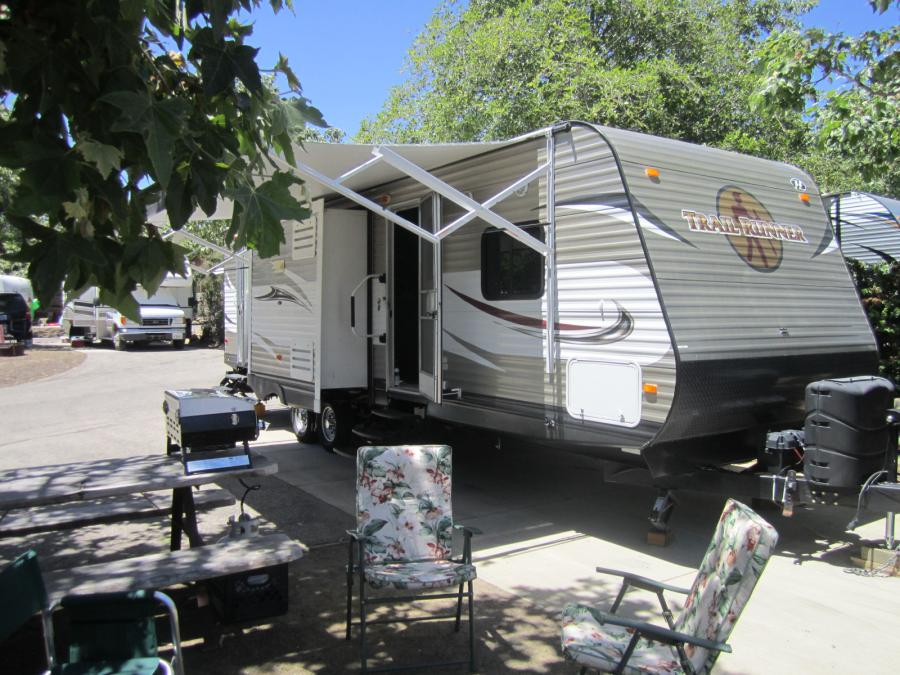 RV Rental set up at Ocean Mesa RV Resort in Santa Barbara, CA