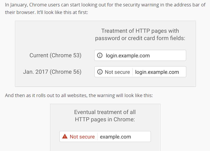 Chrome Https Warning
