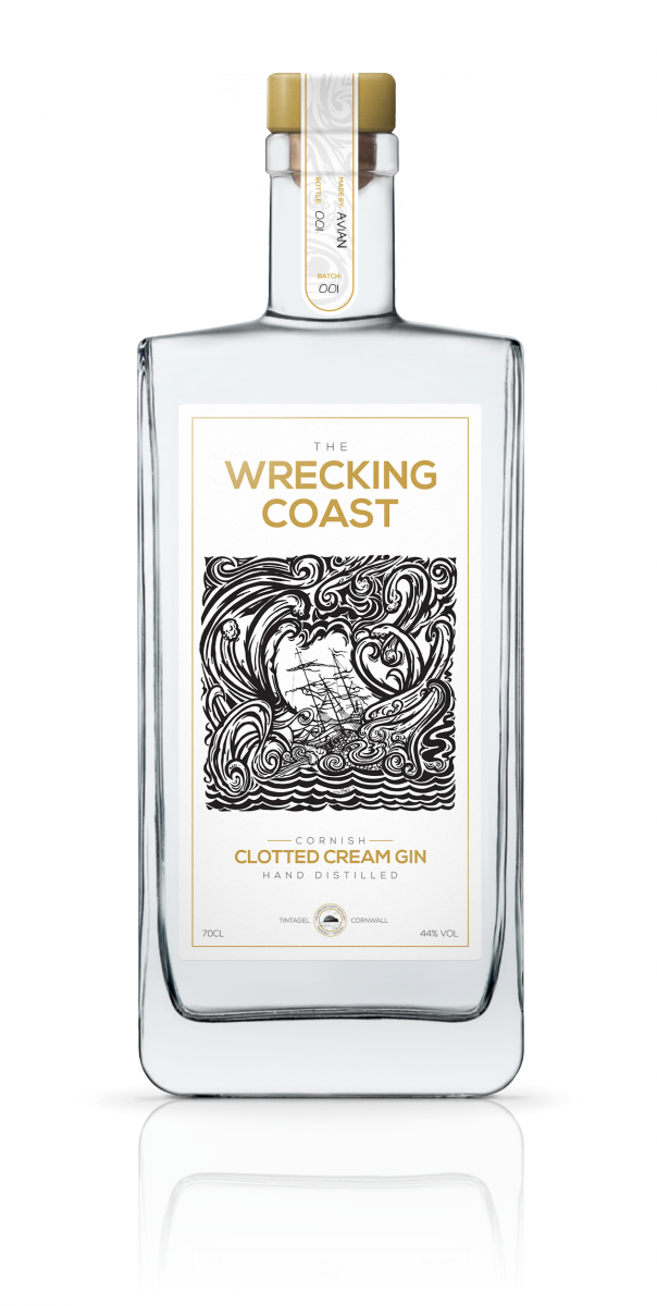 "Premium Gin ""The Wrecking Coast Cornish Clotted Cream Gin"" to be exported to Japan and Singapore for the first time"