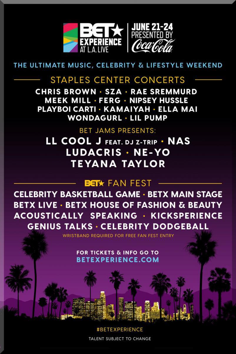 BET AWARDS 2018 Ticket Packages Fan Fest June 21 – 24 LA Live