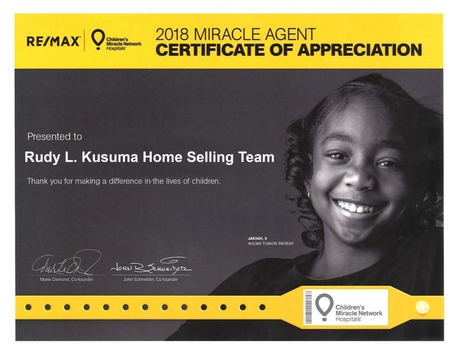 Rudy L Kusuma Home Selling Team at the Children's Hospital Los Angeles