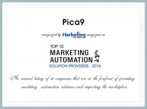 Pica9 Top 10 Marketing Automation Award