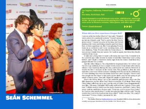 Sean Schemmel, the voice of Goku, in Dragon Soul