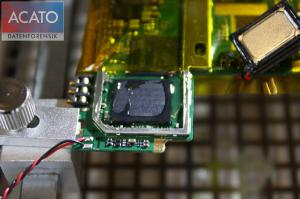 The chipoff process allows access to evidnce even if smartphone is damaged