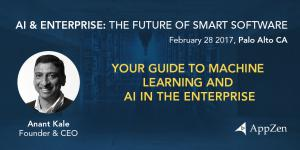 AppZen CEO Anant Kale presenting Your Guide to Machine Learning and AI in the Enterprise