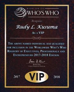 Rudy Lira Kusuma 2017-2018 Worldwide Who's Who Registry