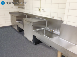 Stainless Steel Countertop in a Wet Lab
