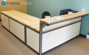 Customized Bench Plus Reception Desk