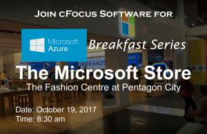 Join us for the October 2017 Microsoft Azure Breakfast Series!