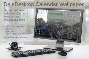 DejaDesktop Calendar Wallpaper for Windows