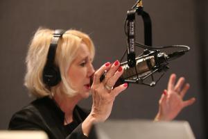 Renee White Fraser - on her radio broadcast