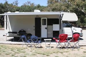 Motorhome rental set up at Camgpround