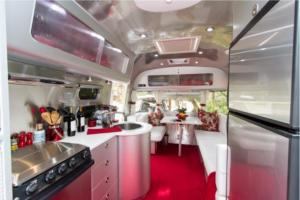 Inside new Airstream RV rental