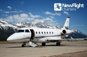 Private jet charter with New Flight Charters ready for departure from Jackson Hole Airport