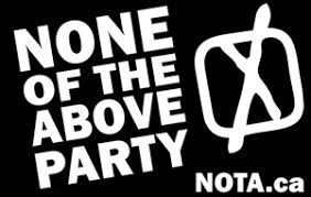 None of the Above Party - logo