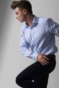Hasso men's double cuff shirts
