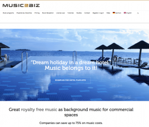 MUSIC2BIZ Homepage