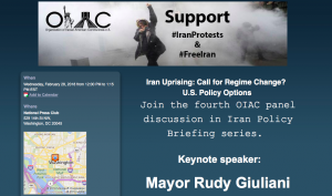 IAC: Honorable Rudy Giuliani to Speak at a Luncheon at the National Press Club