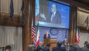 """Washington, DC; March 1, 2018 - At a National Press Club luncheon titled,""""Iran Uprising: Call for Regime Change, U.S. Policy Options,"""" the fourth in a series of OIAC-sponsored forums on Iran policy, former New York City Mayor Rudolph W. Giuliani urged th"""