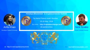 Himalaya Crypto Summit arrives in Mumbai ft. Nick Szabo 25-26 May 2018